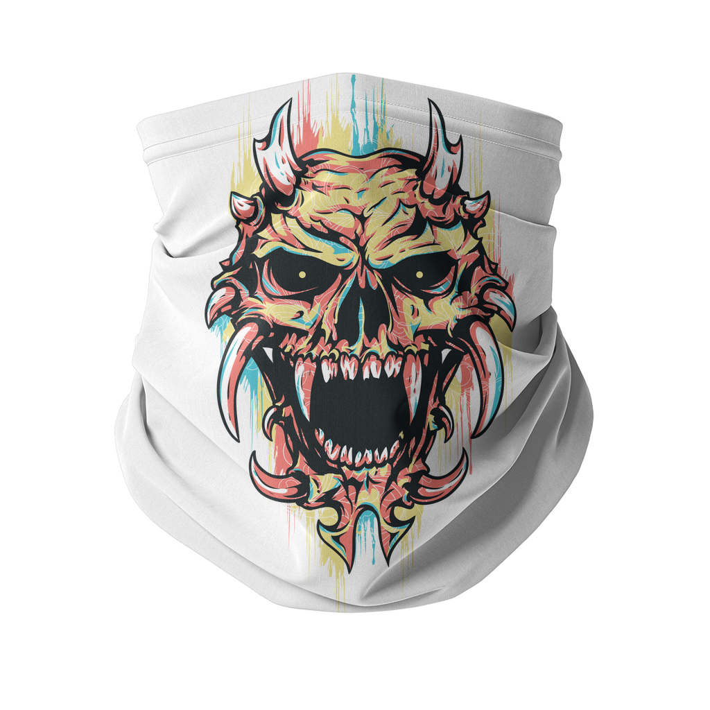 Pastel Skull Sublimation Neck Gaiter - skulldaze