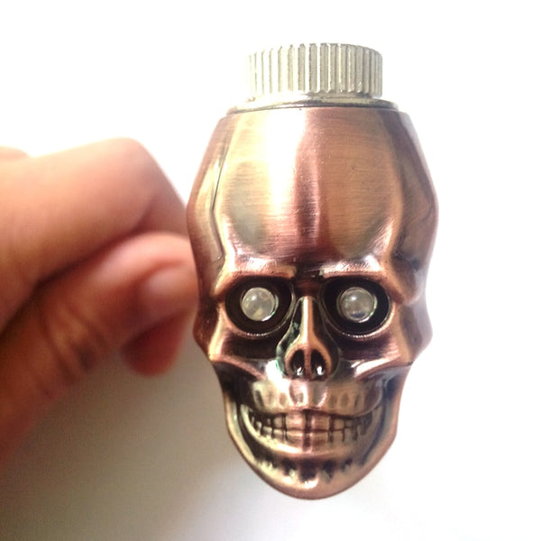 Metal Skull Smoking Pipe - skulldaze