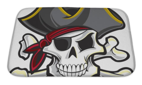 Bath Mat, Pirate Skull - skulldaze