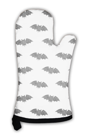 Cute Black Bat Oven Mitt Cooking Baking Bats Decorative - skulldaze