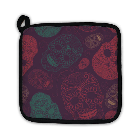 Potholder, With Skulls - skulldaze