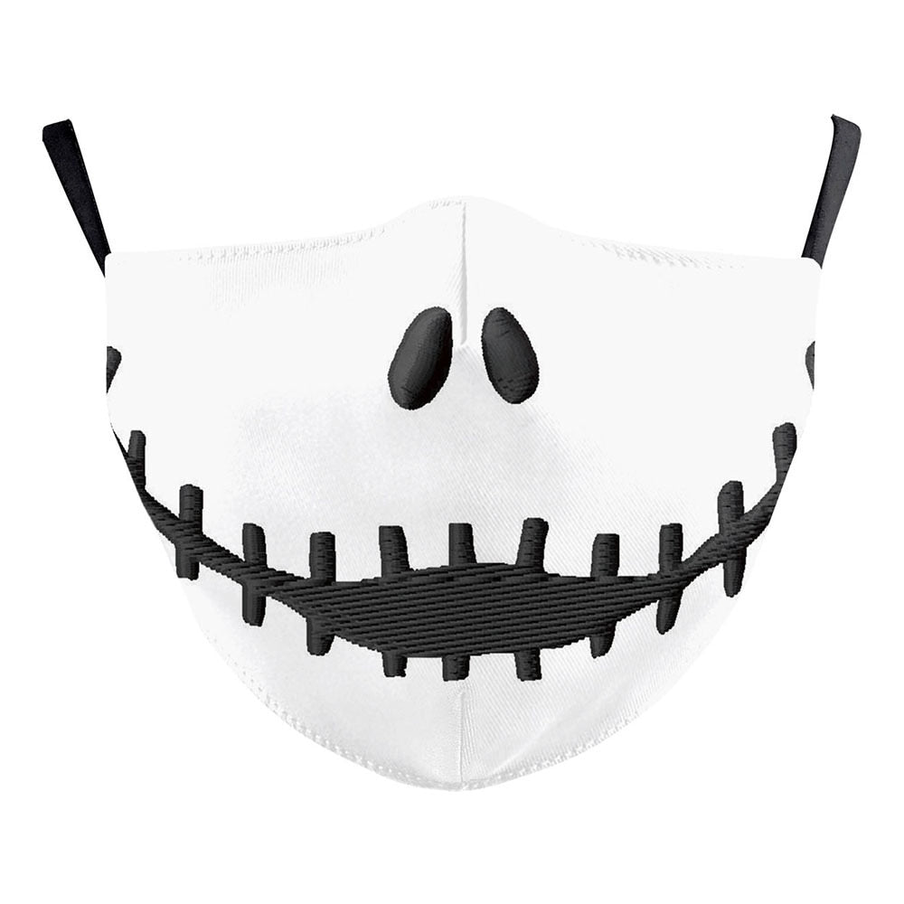 Stitched Mouth Look Face Mask - skulldaze