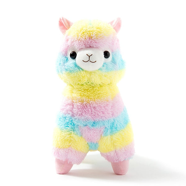 Pastel Rainbow Plush Alpaca Stuffed Llama toy - skulldaze