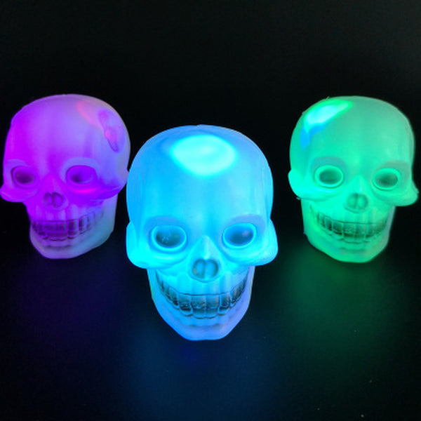 LED colored Flash Skull Night Light Lamp 