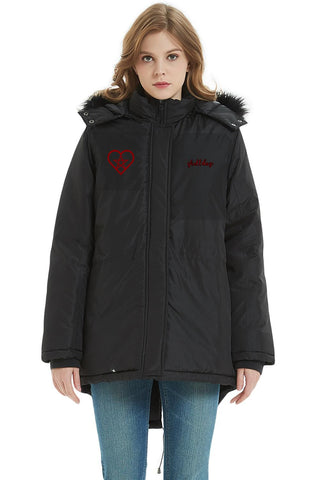 Hooded Parka Pent Up Heart - skulldaze