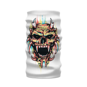 Pastel Skull Sublimation Neck Warmer Morf Scarf - skulldaze