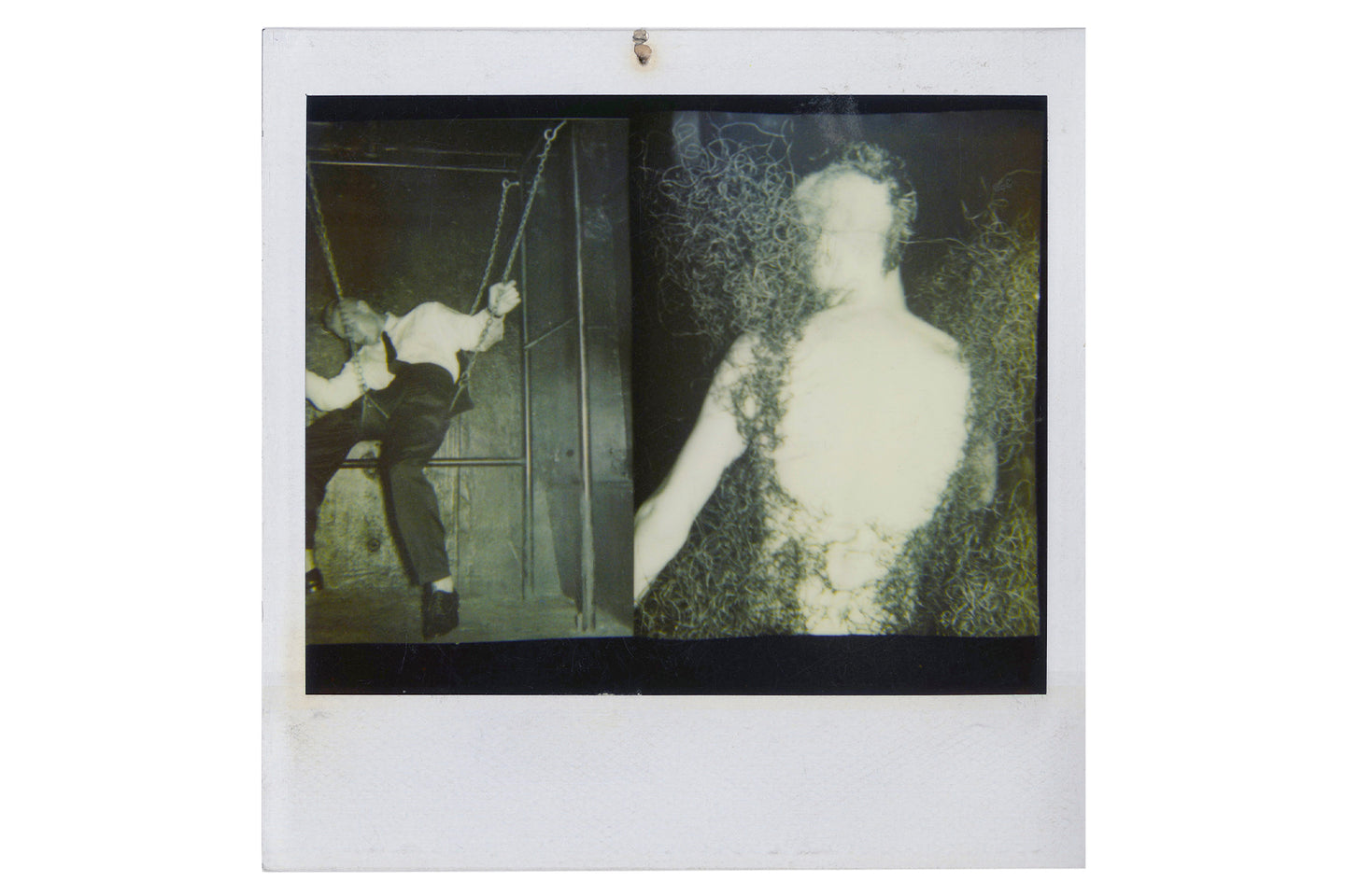Boy in Swing and in Wire Dress, 1995
