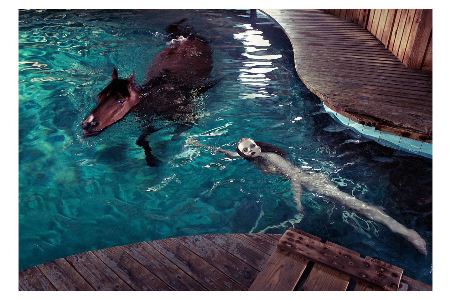 Girl in Pool with Horse, 2005
