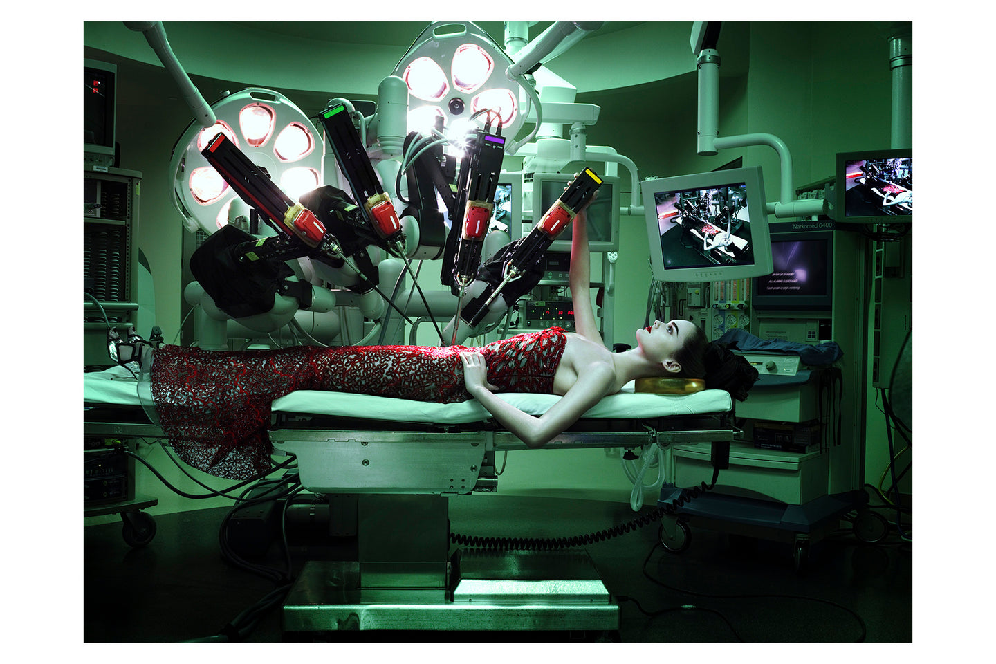 Red Dress in Surgical Room, 2005