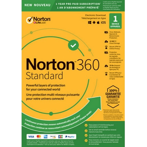 Norton 360 Standard - 1-Year / 1-Device Mac or PC - Digital Zone