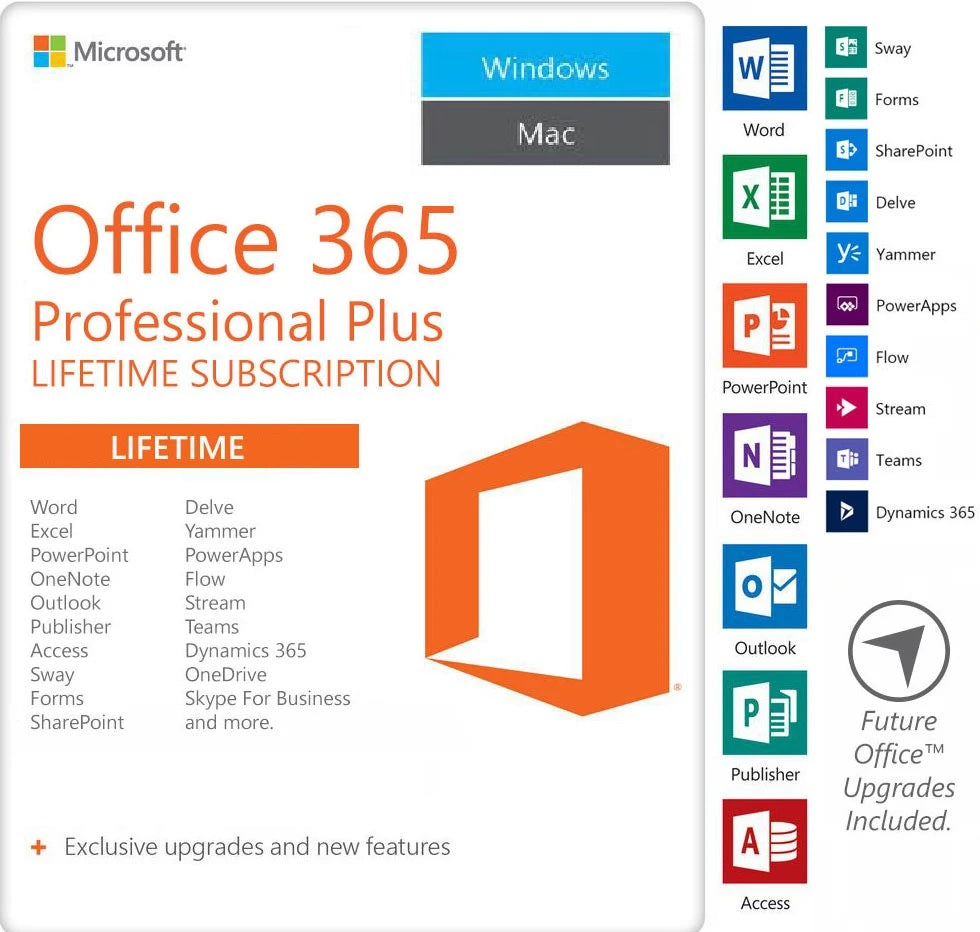 Microsoft Office 365 LIFETIME License for PC and Mac - Digital Zone