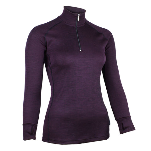 Wilderness Wear Women's Merino Fusion 190 Zip Neck Long Sleeve