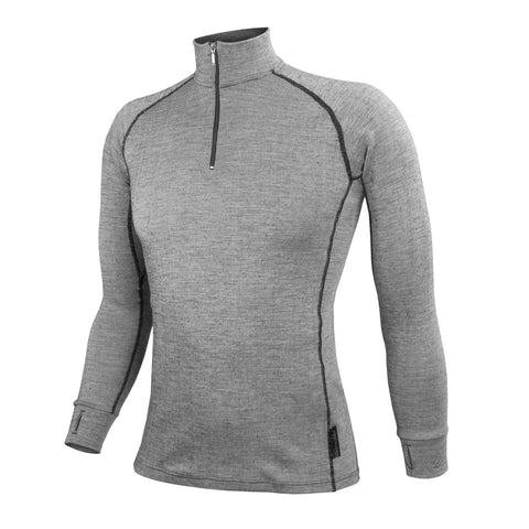Wilderness Wear Men's Merino Fusion 190 Zip Neck Long Sleeve