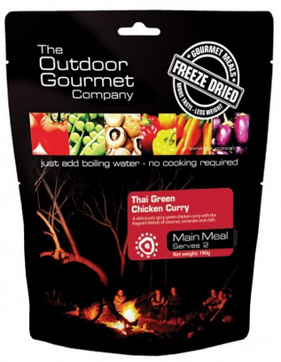 Outdoor Gourmet Company Freeze Dried Meal / Thai Green Chicken