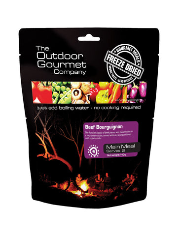 Outdoor Gourmet Freeze Dried Meal / Beef Bourguignon