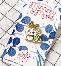 Load image into Gallery viewer, Sweet Clover Mousemoth Enamel Pin