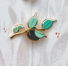Load image into Gallery viewer, Tiny Plum Branch Enamel Pin
