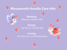 Load image into Gallery viewer, 100% Cotton Purple Mousemoth Hoodie