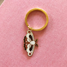 Load image into Gallery viewer, Moth Enamel Keychain