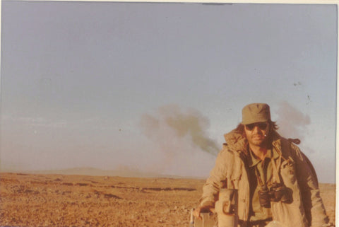 Danny in the Golan Heights during the Yom Kippur War.