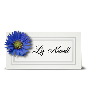 Aster, blue - place card
