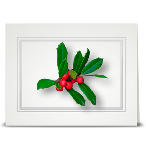 Holly, Multi Leaf - folded card
