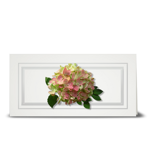 Hydrangea, pink - gift tag