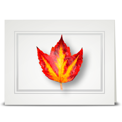 Flame Leaf - folded card