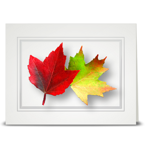 Maple Leaf, Double - folded card