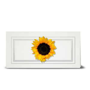 Sunflower, double petal - gift tag