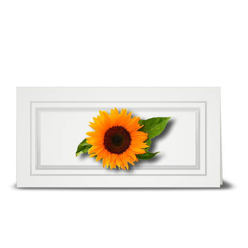 Sunflower, Swiss - gift tag