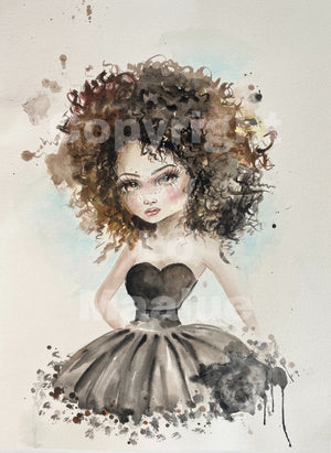 Original watercolor maleri 15