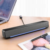 SADA V-196 Computer Speaker 3D Stereo Sound Deaktop USB 3.5mm Wired Control Soundbar