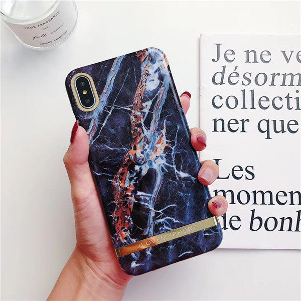 Creative marble mobile phone case soft cover