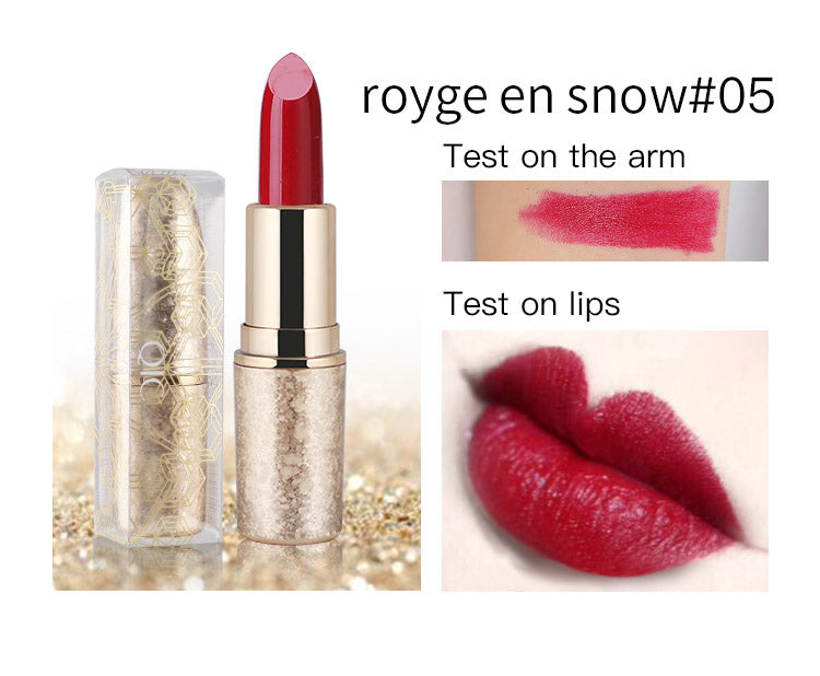Wedding snowflake lipstick