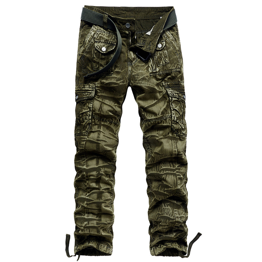 Men's camouflage cargo trousers