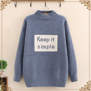 Alphabet middle and high school student sweater