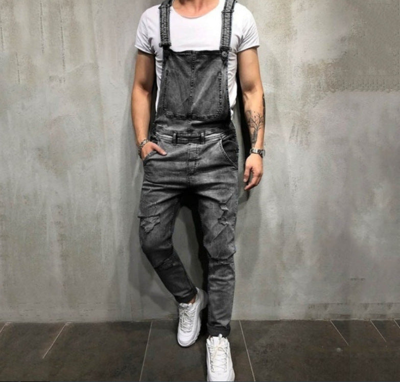 Frayed Men's Foreign Trade Jeans Trousers And Overalls