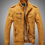 Distressed Style Leather Jacket