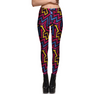 Colorful arrow personalized print slim sports nine pants breathable leggings