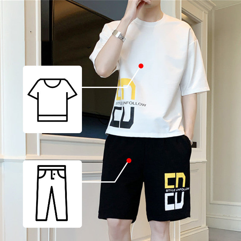 Men's summer suit short sleeve