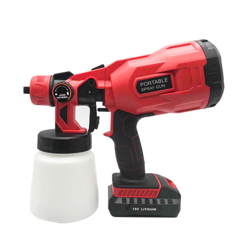 Cordless power tool paint spraying machine