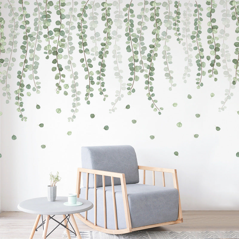 Nordic Green Plant Branch Leaf Wall Sticker