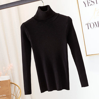 Turtleneck sweater women knit bottoming shirt