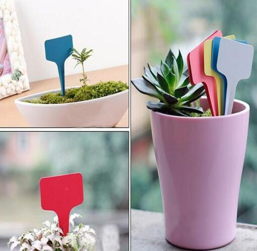 10 pcs/Set T-type Tags Markers Nursery Garden Labels