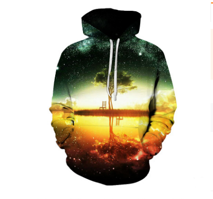 3d hoodie print pullover sweater loose hooded sweater