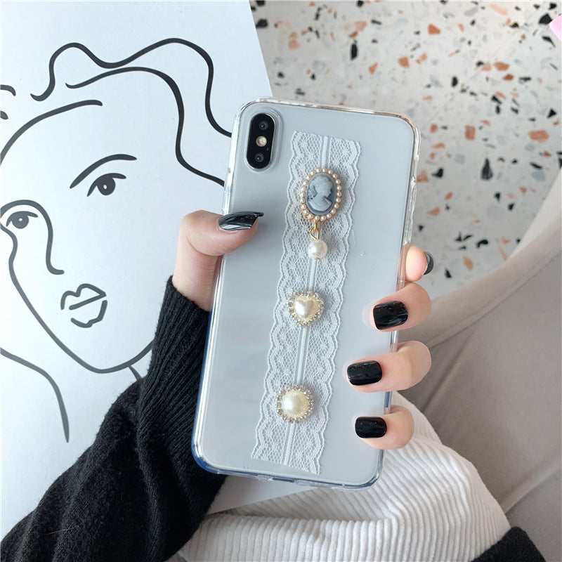 Vintage lace girl phone case