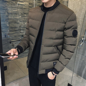 Stand Collar Down Jacket Men's Baseball Uniform