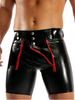 European and American sexy underwear men's patent leather tight shorts men's shorts