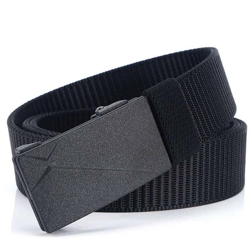 Toothless non-porous men's belt nylon belt